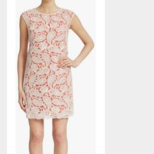 Vince Camuto Paisley embroidered sheath dress